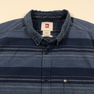 QUICKSILVER Mens Large Blue Casual Shirt